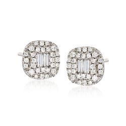 Gregg Ruth .58 ct. t.w. Diamond Earrings in 18kt White Gold , , default