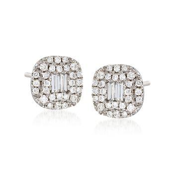 Gregg Ruth .58 ct. t.w. Diamond Earrings in 18kt White Gold , , default
