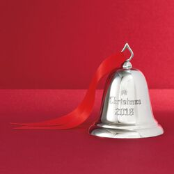 Reed & Barton 2018 Annual Sterling Silver Christmas Bell Ornament - 34th Edition, , default