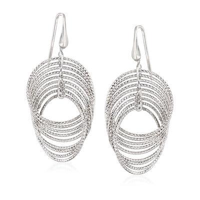 """Charles Garnier """"Saturnia"""" Sterling Silver Interlocking Drop Earrings, , default"""