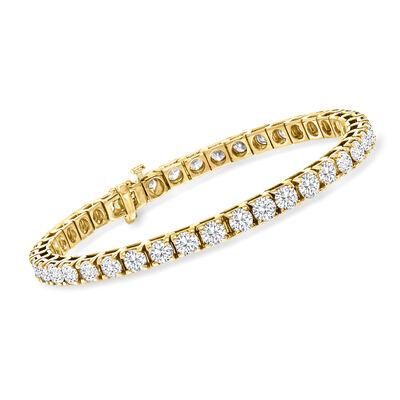 10.00 ct. t.w. Diamond Tennis Bracelet in 14kt Yellow Gold