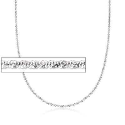 Italian Crisscross-Link Chain in Sterling Silver