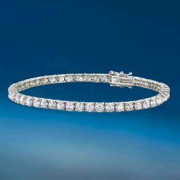 8.00 ct. t.w. Diamond Tennis Bracelet in 14kt White Gold, , default