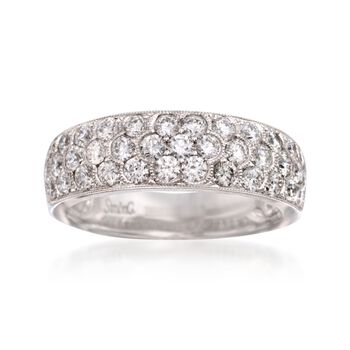 Simon G. 1.20 ct. t.w. Diamond Wedding Ring in 18kt White Gold, , default