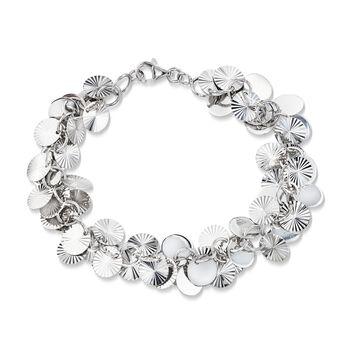 "Sterling Silver Multi-Circle Bracelet. 7"", , default"