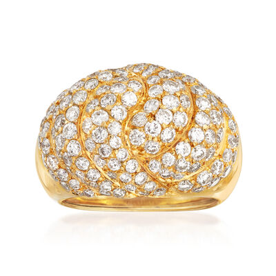 C. 1990 Vintage Piaget 3.50 ct. t.w. Diamond Dome Cocktail Ring in 18kt Yellow Gold, , default