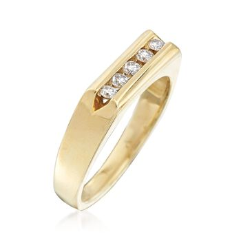 Men's .25 ct. t.w. Channel-Set Diamond Ring in 14kt Yellow Gold, , default