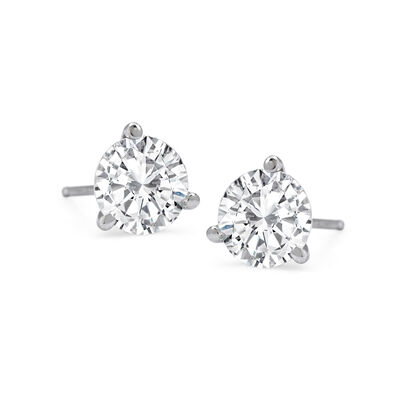 1.00 ct. t.w.Diamond Martini Stud Earrings in Platinum