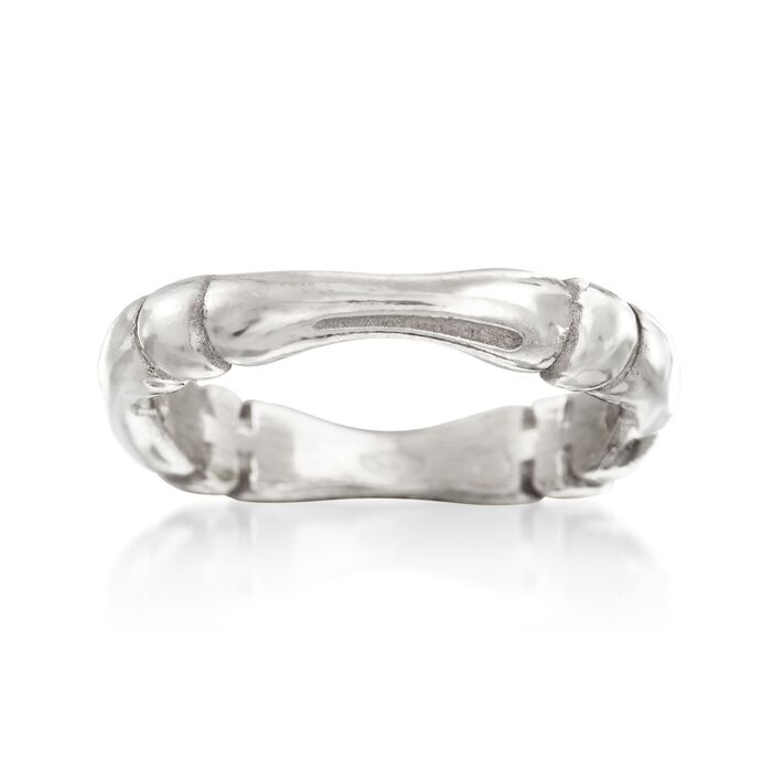 Italian Sterling Silver Tapered Ring, , default