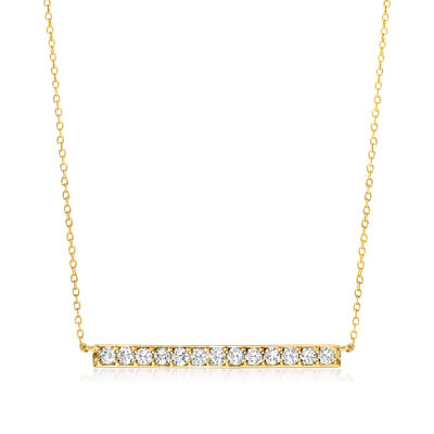 1.00 ct. t.w. Diamond Bar Necklace in 14kt Yellow Gold