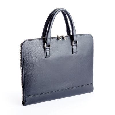 "Royce ""Executive Office"" Black Leather Laptop Brief, , default"