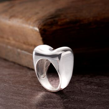 Italian Sterling Silver Dimensional Ring, , default