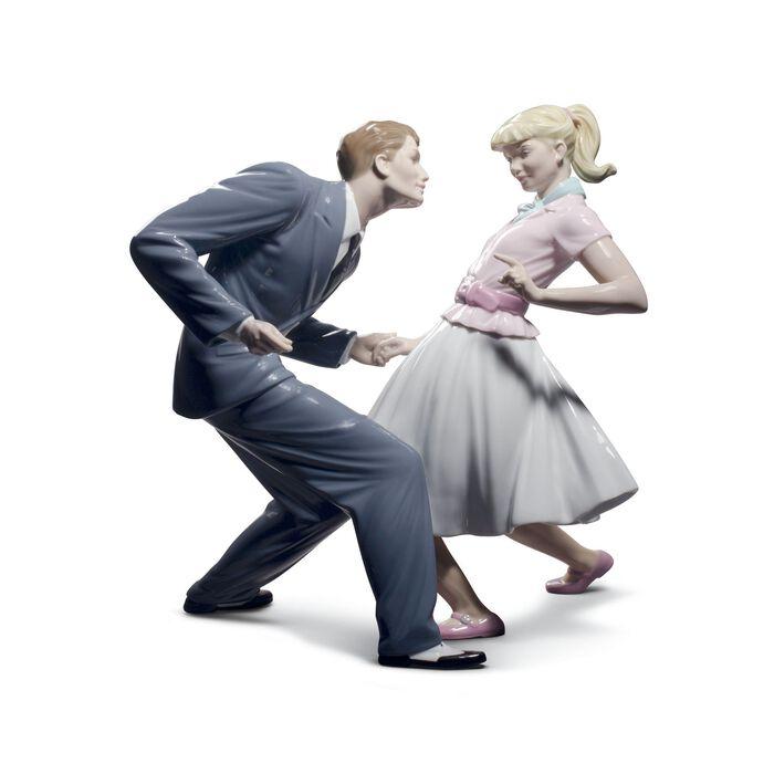 "Lladro ""Let's Swing"" Porcelain Figurine, , default"