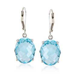 20.00 ct. t.w. Blue Topaz Drop Earrings in Sterling Silver , , default