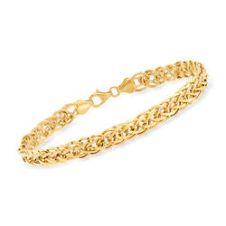 14kt Yellow Gold Wheat-Link Bracelet, , default