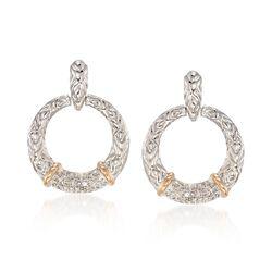 .22 ct. t.w. Diamond Doorknocker Earrings With 14kt Yellow Gold in Sterling Silver, , default