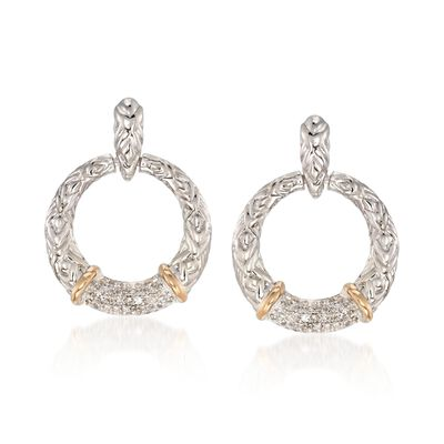 .22 ct. t.w. Diamond Doorknocker Earrings with 14kt Yellow Gold in Sterling Silver, , default