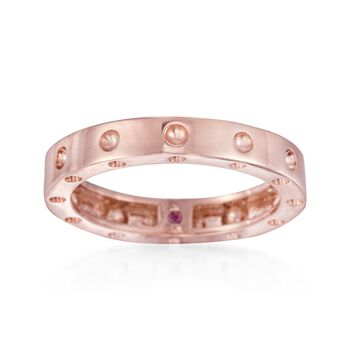 """Roberto Coin """"Pois-Moi"""" 18kt Rose Gold Dotted Ring. Size 7, , default"""