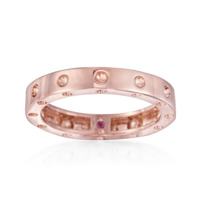 """Roberto Coin """"Pois-Moi"""" 18kt Rose Gold Dotted Ring, , default"""