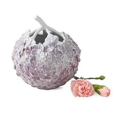 Royal Copenhagen Hand-Painted Lilac Porcelain Hydrangea Vase, , default