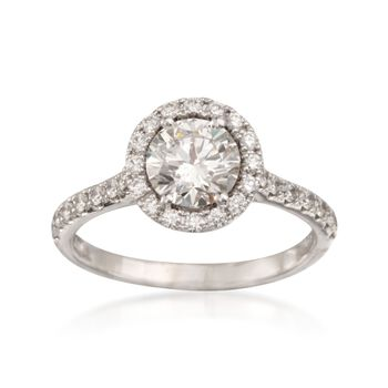 1.38 ct. t.w. Certified Diamond Engagement Ring in Platinum, , default