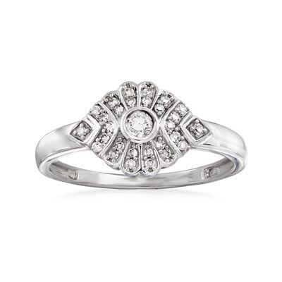 .15ct. t.w. Diamond Ring in 14kt White Gold, , default