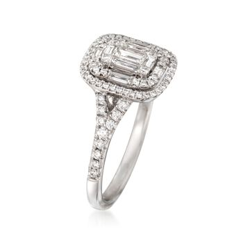 Simon G. .82 ct. t.w. Diamond Ring in 18kt White Gold, , default
