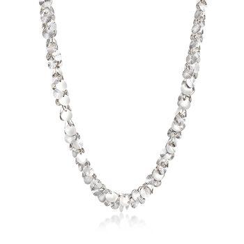 Sterling Silver Multi-Disc Confetti Necklace, , default