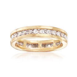 1.80 ct. t.w. CZ Eternity Band in 18kt Yellow Gold Over Sterling Silver , , default
