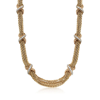 C. 1980 Vintage Tiffany Jewelry 2.40 ct. t.w. Diamond Multi-Strand Necklace in 14kt Yellow Gold, , default