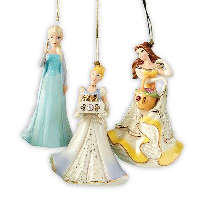 Lenox Set of 3 Disney Princess Ornaments, , default