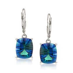 8.75 ct. t.w. Blue Quartz Drop Earrings in Sterling Silver, , default