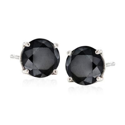 2.00 ct. t.w. Black Diamond Stud Earrings in Sterling Silver