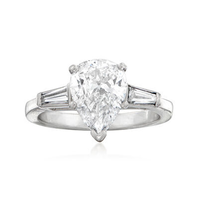 C. 1990 Vintage 1.90 ct. t.w. Diamond Ring in Platinum, , default