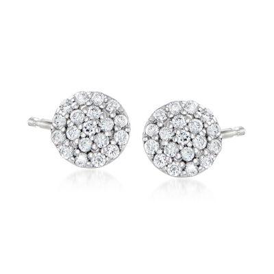 C. 1990 Vintage .17 ct. t.w. Diamond Cluster Earrings in 18kt White Gold