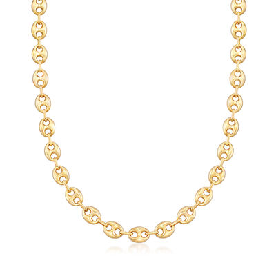 Italian 14kt Yellow Gold Marine-Link Chain Necklace, , default