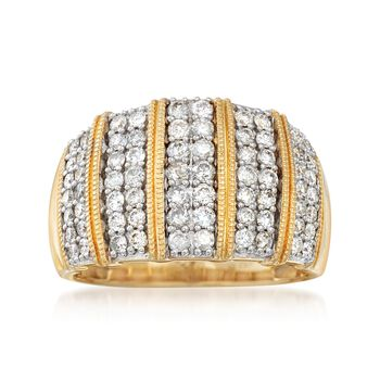 1.00 ct. t.w. Diamond Stripe Ring in 14kt Yellow Gold, , default