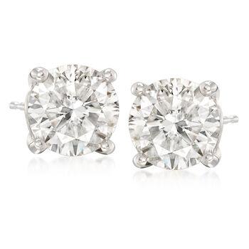 8.00 ct. t.w. CZ Stud Earrings in 14kt White Gold, , default