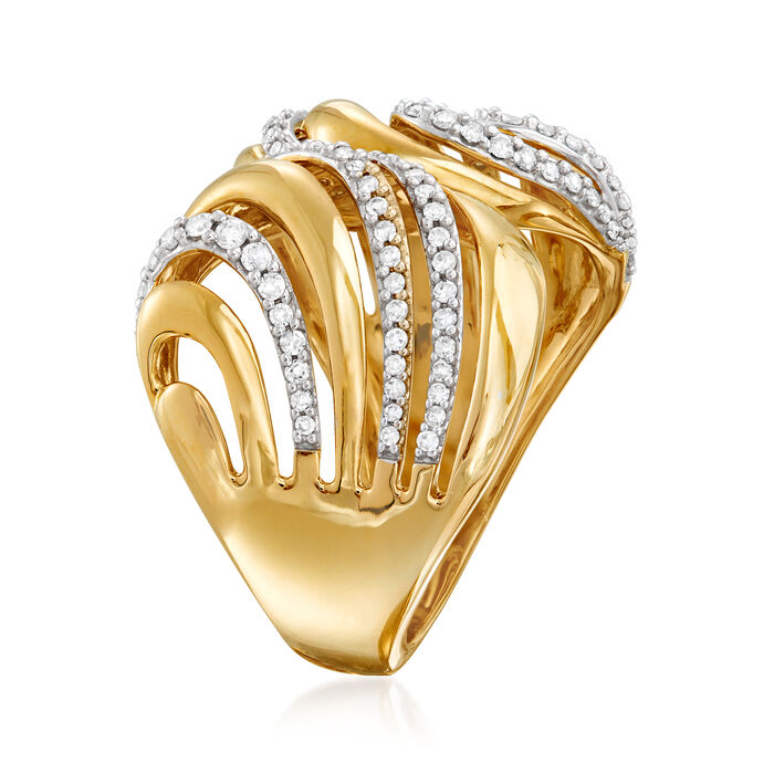 .50 ct. t.w. Diamond Double-Wave Ring in 14kt Yellow Gold