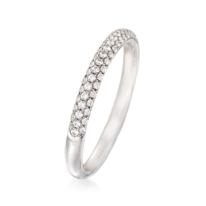 Simon G. .30 ct. t.w. Diamond Wedding Ring in 18kt White Gold