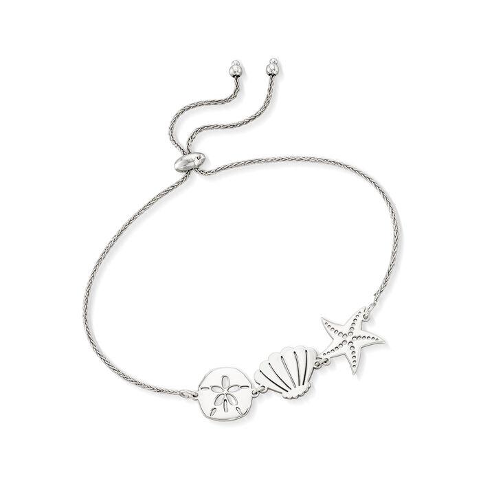 Sterling Silver Sea Life Bolo Bracelet