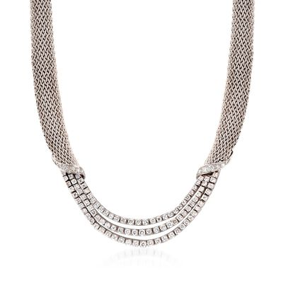 C. 1980 Vintage Tiffany Jewelry 5.50 ct. t.w. Diamond Mesh Necklace in Platinum and 18kt White Gold, , default