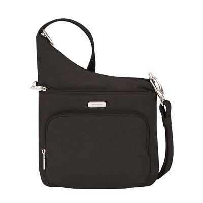 Anti-Theft Essential North-South Black Crossbody Bag