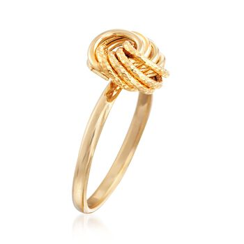 Italian 14kt Yellow Gold Textured and Polished Rosette Ring, , default