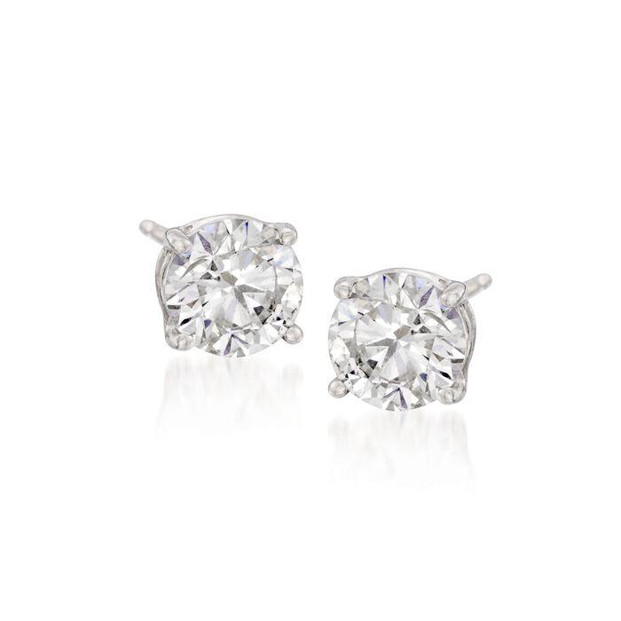 1.00 ct. t.w. CZ Stud Earrings in Sterling Silver, , default