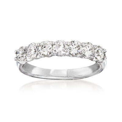 1.06 ct. t.w. Diamond Wedding Band in 14kt White Gold, , default