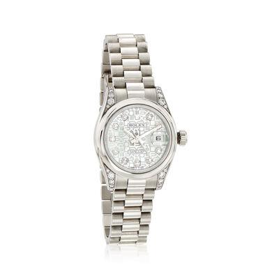 C. 2008 Pre-Owned Rolex Datejust Women's 26mm Automatic Platinum Watch, , default