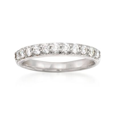 .55 ct. t.w. Diamond Wedding Ring in 14kt White Gold