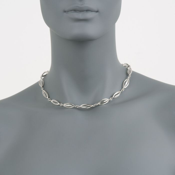 "Zina Sterling Silver ""Pod"" Necklace. 17"", , default"