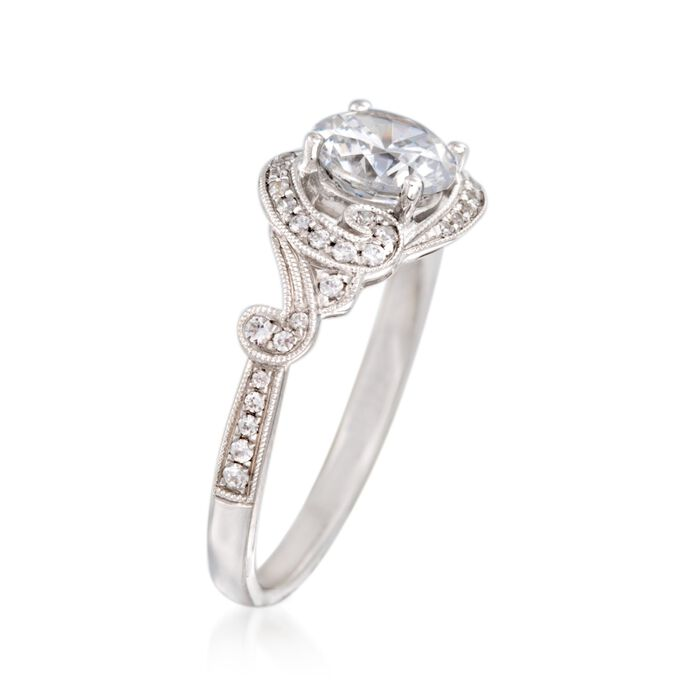 Simon G. .21 ct. t.w. Diamond Scrolling Engagement Ring Setting in 18kt White Gold